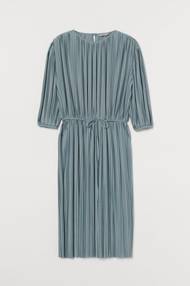 H&M Pleated Dress - Turquoise