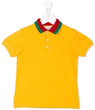 Gucci Kids Monster Print Polo Shirt