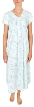 Miss Elaine Printed Long Nightgown