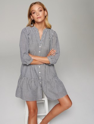 Forever New Gina Gingham Smock Dress - Black/White Gingham - 10