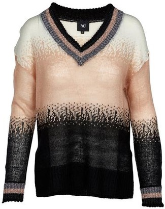 NU DENMARK - Bia Striped Knitted Jumper - M