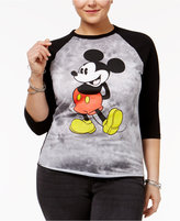 Hybrid Trendy Plus Size Mickey Graphic Baseball T-Shirt