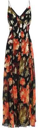 HANEY Silk-blend Chiffon Maxi Dress
