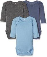 Name It Baby Boys' Nitbody 3p Ls Solid Nb B Noos Bodysuit,pack of 3