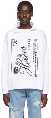 Raf Simons White Heroes Losers Sweatshirt
