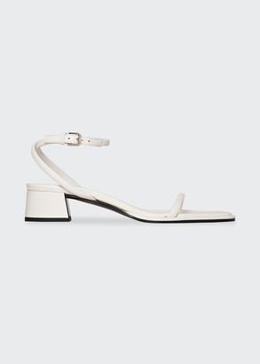 The Row Kate Asymmetric Low-Heel Sandals