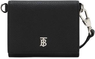 Burberry Otis Metal Logo Leather Wallet Bag