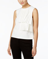 Catherine Malandrino Cynthia Pleated Tiered Top