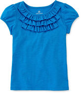 JCPenney Okie Dokie Ruffle Tee - Toddler Girls 2t-5t