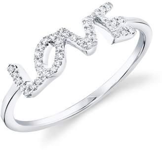 Ron Hami 14K White Gold Diamond Love Ring - 0.08 ctw - Size 7