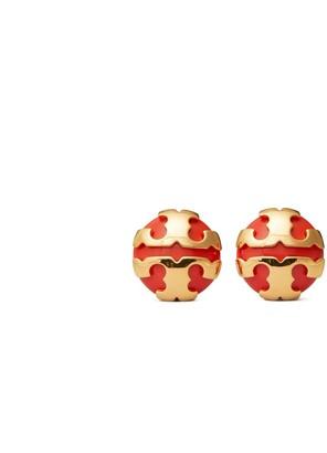 Tory Burch Applied Logo Resin Stud Earring