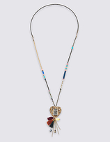 M&S Collection Tassel Heart Necklace