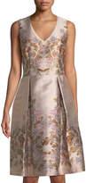 Max Studio Sleeveless Floral Brocade Dress