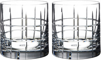 Orrefors Set Of 2 Street Double Old Fashioned Glasses