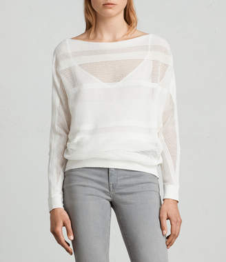AllSaints Springs Slash Neck Sweater