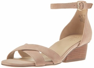 Naturalizer Womens Caine Nude Suede Ankle Straps 7 W
