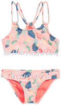 Roxy 2-Pc. Sandy Break Athletic Bikini Set, Toddler & Little Girls (2T-6X)