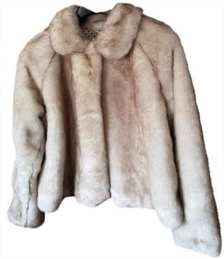 Twin-Set Twin Set Beige Fur Coat for Women
