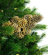 Southern Living Nostalgic Noel Collection Metallic Pinecone Cluster Pick