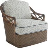 Tommy Bahama Bali Hai Swivel Armchair Home Upholstery Color: Gray/Blue