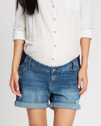 Gap Maternity Roll Cuff Denim Shorts