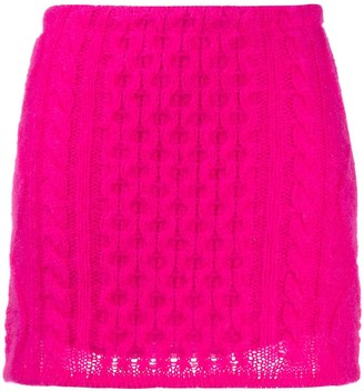 Laneus Cable-Knit Mini Skirt