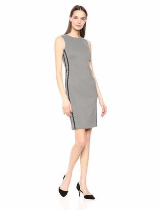 Calvin Klein Women's Sleeveless Sheath with Side Lace Trim Dress