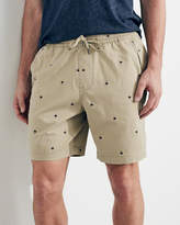 Hollister Patterned Twill Jogger Shorts