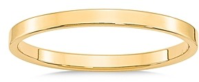 Bloomingdale's Men's 2mm Lightweight Flat Band in 14K Yellow Gold - 100% Exclusive