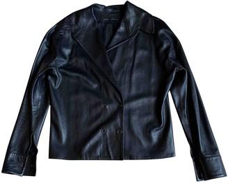Anthony Vaccarello Black Leather Jackets