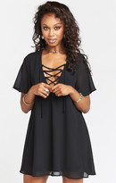 MUMU Rancho Vista Tunic Dress ~ Black Chiffon