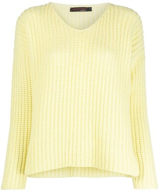 Incentive! Cashmere V-neck ribbed jumper