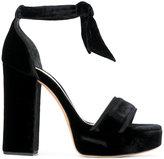 Alexandre Birman Celine sandals - women - Cotton/Leather/Suede/rubber - 36