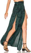 Blue Life Grace Wrap Skirt in Green
