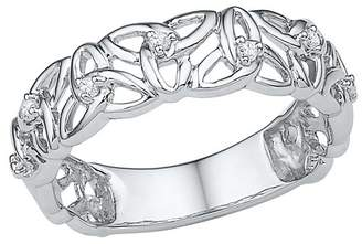 1/20 CT. T.W. Round Diamond Prong Set Fashion Ring in Sterling Silver (6.5)