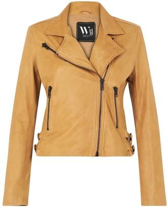 West 14th New Yorker Motor Jacket Malto Tan Leather