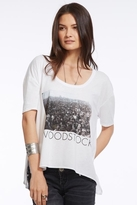 Chaser LA Woodstock Crowd Boxy Flow Tee in White
