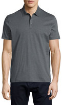 HUGO BOSS Knit Polo Shirt w/Contrast Placket, Charcoal