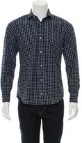 Eleventy Plaid Button-Up Shirt