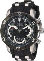 Invicta Men's 'Pro Diver' Quartz Stainless Steel and Silicone Casual Watch, Color: (Model: 22797)