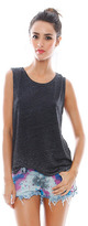 Chaser Shirttail Muscle Tee in Black