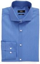 BOSS Men's Slim Fit Geometric Dress Shirt