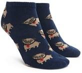 Forever 21 FOREVER 21+ Pug Print Ankle Socks
