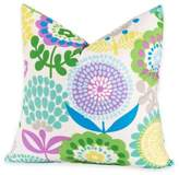 Crayola Pointillist Pansy 18-Inch Square Throw Pillow