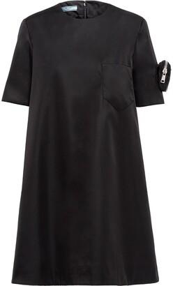 Prada Logo-Pouch Shift Dress