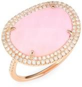 Meira T 14K Rose Gold, Diamond & Pink Opal Ring
