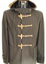 Gloverall Waxed Duffle Jacket Khaki