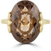 Effy Jewelry Effy 14K Yellow Gold Smokey Quartz Ring, 12.30 TCW