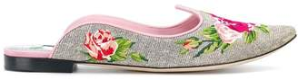 Dolce & Gabbana floral mules