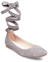 Steve Madden Bloome Suede Tie-Up Ballet Flats